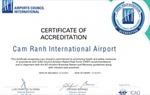 """Hội đồng Sân bay quốc tế chứng nhận """"chuẩn y tế"""" cho Cảng hàng không quốc tế Cam Ranh"""