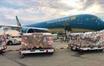 Vietnam Airlines vận chuyển miễn phí 190.000 bộ kit xét nghiệm Covid-19 của Đức viện trợ Việt Nam