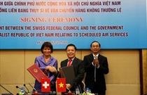 Việt Nam – Thụy Sĩ  ký Hiệp định về vận chuyển hàng không thường lệ
