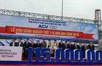 Tổng công ty Cảng hàng không Việt Nam  đón hành khách thứ 115 triệu thông qua các cảng hàng không
