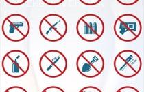 Danh mục vật phẩm nguy hiểm cấm, hạn chế mang vào khu vực hạn chế, cấm mang lên khoang hành khách, khoang hàng của tàu bay.