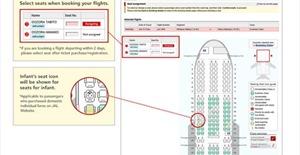 Bản đồ nhận biết ghế máy bay có trẻ em